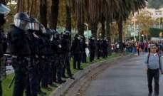 الحكومة الإسبانية تكثف نشر قوات الأمن في كاتالونيا