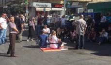 وقفة احتجاجية في النبطية احتجاجا على تكدس النفايات في الشوارع
