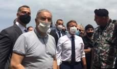 فرعون تفقد أضرار الإنفجار بمرفأ بيروت وشكر لماكرون زيارته ودعمه للبنان