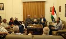 دبور استقبل وفداً من اللجنة الشعبية ولجنة رعاية المساجد في مخيم البداوي