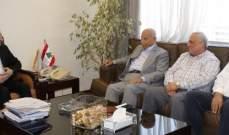 أبو فاعور بحث مع رئيس نقابة أصحاب الأفران في آلية تحفظ إستمرار عملها