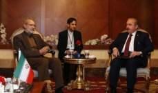 لاريجاني التقى شنطوب: يمكن تحقيق الأمن المستدام بمنطقتنا من خلال التعاون بين البلدين