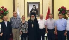 يازجي استقبل وفد الكنيسة المتحدة الإنجيلية الالمانية في دمشق