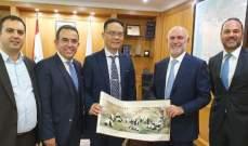 فنيانوس التقى وفدا من شركة CHINA RAILWAY