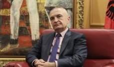 الرئيس الألباني يصادق على اتفاقية تعاون عسكري مع تركيا