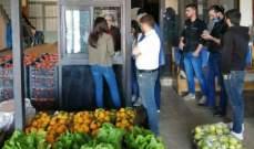 النشرة: دوريات لمراقبي وزارة الاقتصاد على سوق الجملة ومحال بيع الخضار ببعلبك