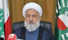 الخطيب: للتضامن من أجل إنقاذ لبنان ولإنزال أشد العقوبات بحق المسؤولين عن الإنفجار