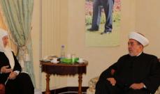 المفتي سوسان التقى بهية الحريري : لمسنا حرصها على تحريك المدينة وتنميتها