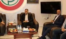 وفد من قيادة حماس في لبنان زار مقر قيادة أمل في إقليم جبل عامل