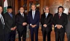 بري التقى رئيس مجلس الشورى الأندونيسي والمنسق الخاص للأمم المتحدة