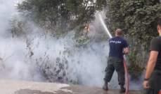 النشرة: الدفاع المدني يخمد حريق اعشاب في صيدا