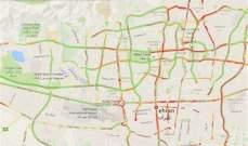 """خرائط """"غوغل"""" تظهر توقفًا كاملًا لحركة السير في العاصمة طهران"""