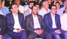 كيدانيان افتتح مهرجان العوينات بحضور الشامسي ونواب ومحافظي بيروت وعكار