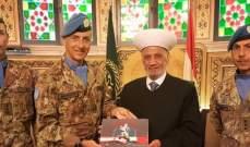 دريان التقى قائد القطاع الغربي لليونفل وقائد الكتيبة الإيطالية