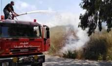 النشرة: إخماد حريق هشير بين سيروب ودرب السيم- صيدا