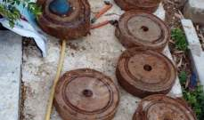النشرة: العثور على 13 لغما قديم العهد في بلدة جباع بقضاء النبطية