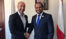 جريصاتي تلقى من سفير الامارات دعوة للمشاركة في الاجتماع التحضيري لقمة المناخ