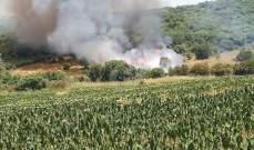 النشرة: الدفاع المدني يعمل على إخماد حريق شب في خراج بلدة رميش الحدودية