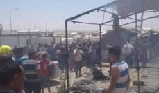 احتراق مخيم للنازحين الإيزيديين في إقليم كردستان العراق