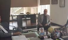 عقيص بحث مع ابو فيصل مشروع اقامة المنطقة الاقتصادية بزحلة