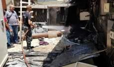 النشرة: إخماد حريق شب في مولد كهربائي في منطقة حي الزهور في صيدا