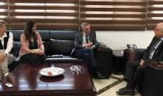 جبق التقى رئيس بعثة الصليب الأحمر لتعزيز التعاون في مجالات مشتركة