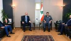 اللواء عثمان عرض للأوضاع العامة في البلد مع الدويهي والطبش