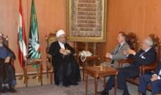 الشيخ قبلان استقبل سفير منظمة فرسان مالطا في لبنان