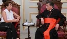 الراعي استقبل سفيرة تشيكيا في لبنان ورعى ندوة إطلاق النسخة العربية لكتاب كومبنديوم