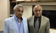 سعد بحث مع رئيس نقابة مالكي الشاحنات العاملة بالترانزيت مشاكل القطاع