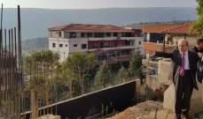 الخليل جال على ورشة بناء المبنى البلدي الجديد لبلدة حاصبيا