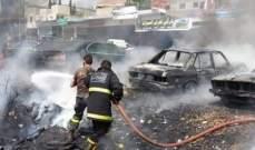 النشرة: احتراق 4 سيارات في المدينة الصناعية في النبطية - كفررمان