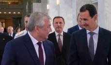 لافرنتييف أكد دعم روسيا المستمر للجهود التي تبذلها الدولة السورية