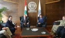 بو صعب عرض مع ريتشارد ووفد عسكري أميركي حاجات الجيش اللبناني
