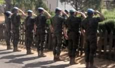 قائد القطاع الشرقي في اليونيفيل رعى الذكرى السنوية لإستشهاد 6 جنود من الكتيبة الإسبانية