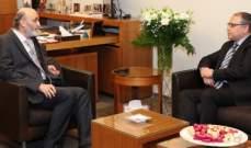 جعجع عرض وسفير مصر الاوضاع في لبنان والمنطقة