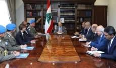 """الرئيس عون: لبنان سيطلب تجديد ولاية """"اليونيفيل"""" دون تعديل"""