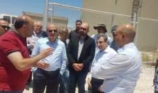 أبو فاعور كشف على مشروع جر مياه عين الزرقاء الى منطقة راشيا