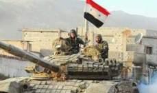 النشرة: الجيش السوري نفذ ضربات بالمدفعية الثقيلة على مواقع للنصرة بريف حماه