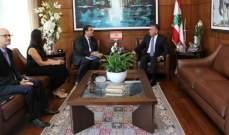 اللواء إبراهيم عرض الأوضاع العامة مع السفير الفرنسي