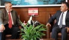 اللواء ابراهيم عرض التطورات مع ممثل الأمين العام للمتحدة في لبنان
