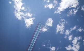 دورية الإستعراض الجوي الفرنسي قامت بعرض بألوان العلم اللبناني فوق بلدة جاج