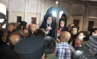 """""""النشرة"""" تواكب زيارة لحام واليازجي إلى معلولا بمناسبة عيد الفصح"""