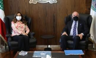 عكر استقبلت ديل كول: نستنكر انتهاكات إسرائيل وخطفها مواطنا لبنانيا
