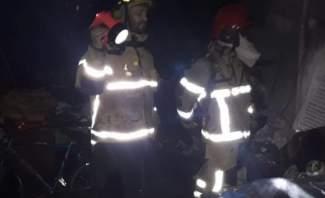 النشرة: العمل على إخماد حريقين شبا بسيارتين على طريق عام مار روكز الدكوانة