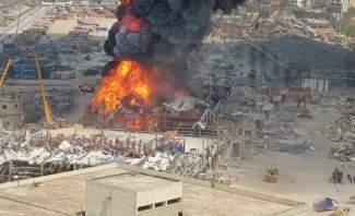 فيديو يظهر اللحظات الاولى لحريق المرفأ وهروب العمال