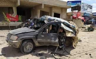 """فيديو يظهر لحظة إستهداف سيارة تابعة لـ""""حزب الله"""" في منطقة جديدة يابوس"""