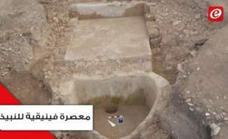 إكتشاف أقدم معصرة للنبيذ في لبنان