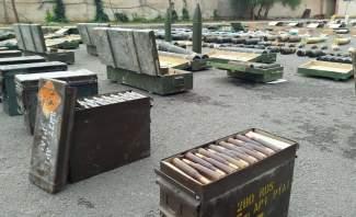 النشرة: الجيش السوري يعثر على أسلحة وذخائر بينها إسرائيلي الصنع جنوبي