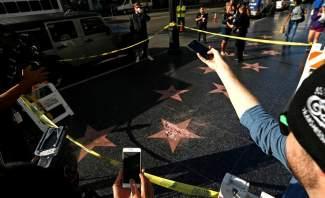 تحطيم نجمة ترامب في شارع المشاهير في هوليوود